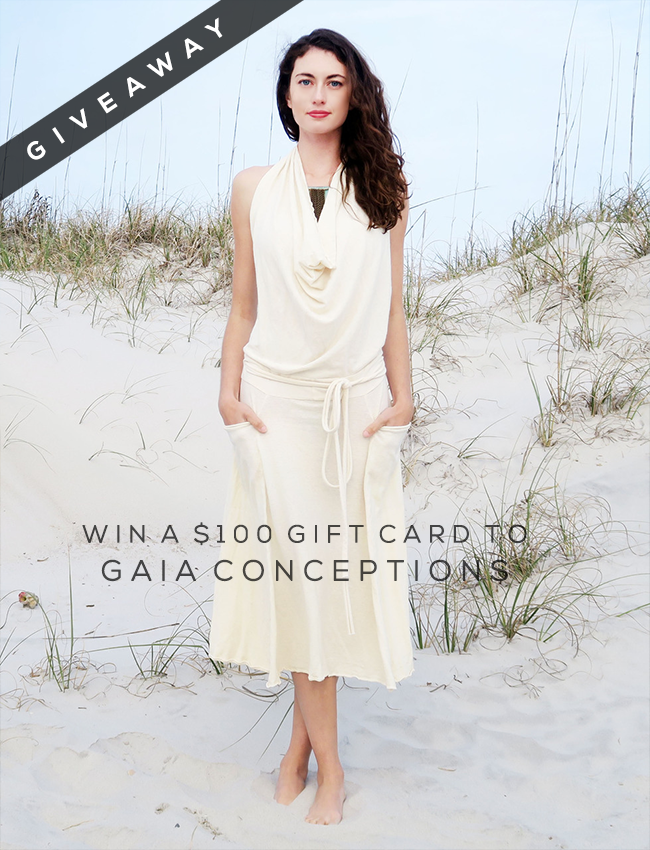 GIVEAWAY // Win A $  100 Gift Card to Gaia Conceptions from Bubby & Bean!