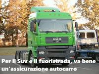 Per assicurare Suv e fuoristrada si può utilizzare un'assicurazione camion