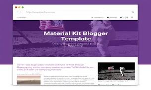 Material Kit Responsive Blogger Template - Responsive Blogger Template