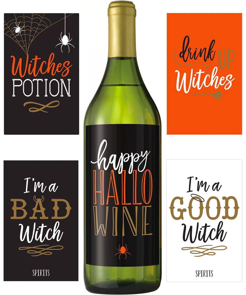 Halloween Wicked Bottle Stickers