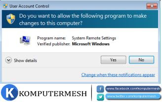 Cara Menghilangkan UAC (User Account Control) Windows 7/8/10
