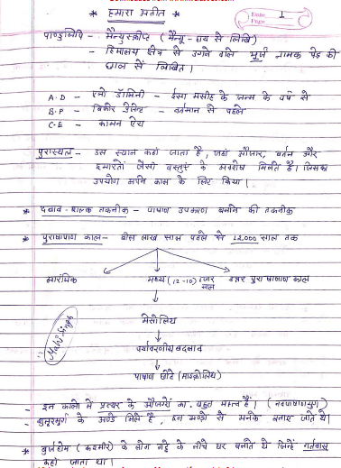 NCERT History Handwritten Notes (Class- 6 to 12) : For UPSC Exam PDF Book