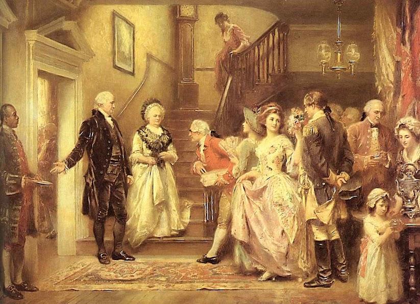 Recepção nas bodas de prata de George Washington, Jean Leon Gerome Ferris (1863 – 1930)