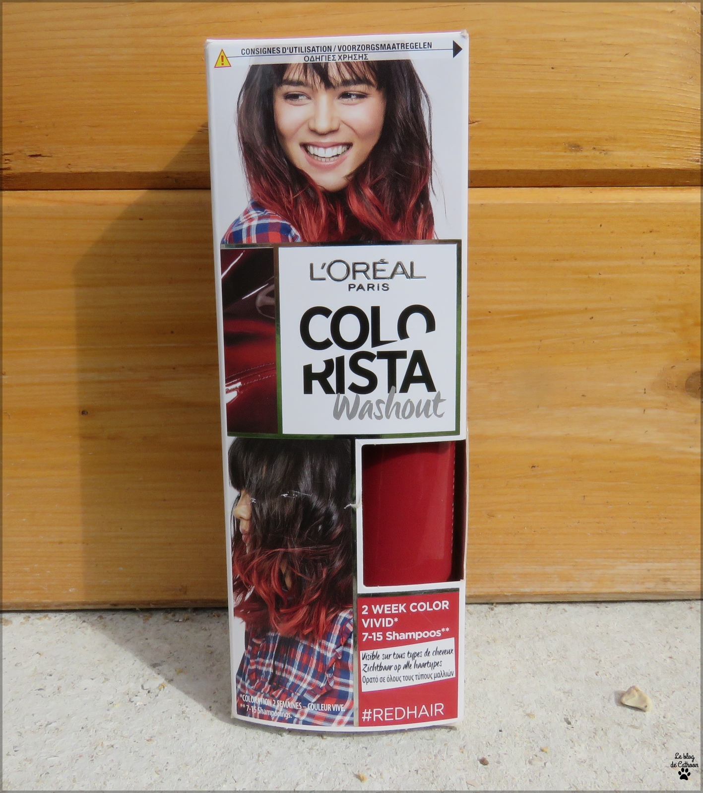 couleur rouge Colorista Washout L'Oréal #redhair