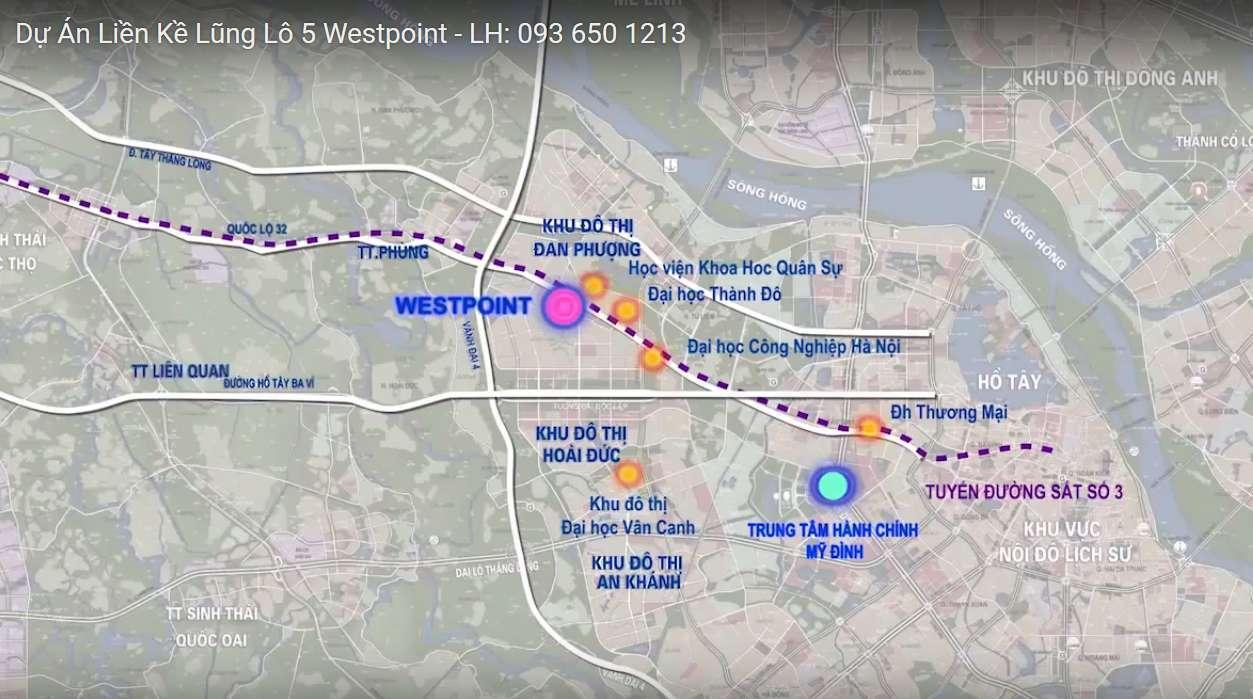 Vị trí dự án liền kề WestPoint