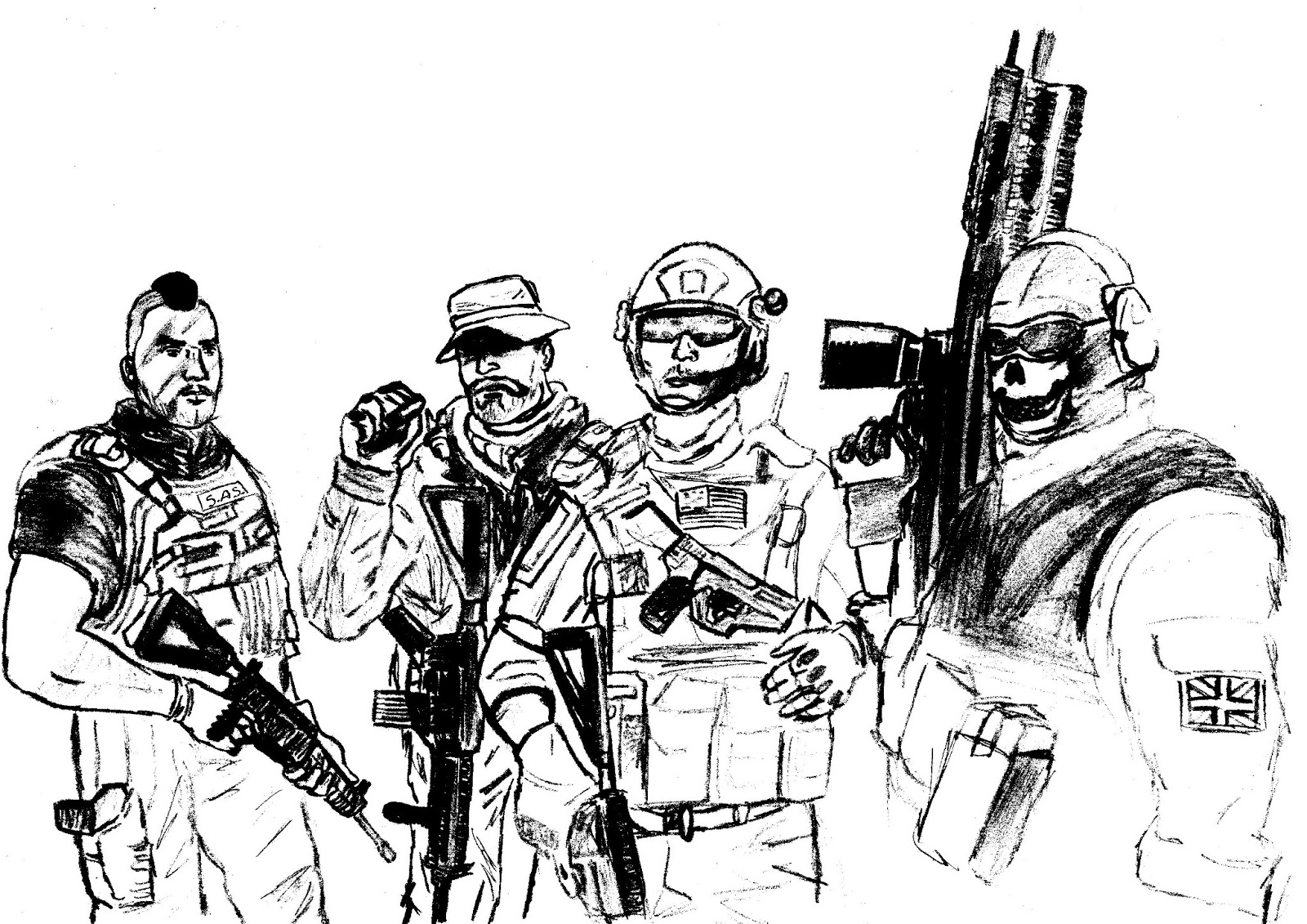 Cod Ghost Coloring Coloring Pages