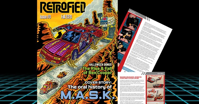 New Retrofied Magazine Showcases Unproduced Kenner M.A.S.K. Toys!