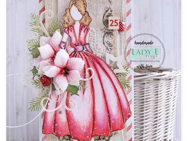 #3 Julie Nutting Christmas Card & New Lady E Design Die Set