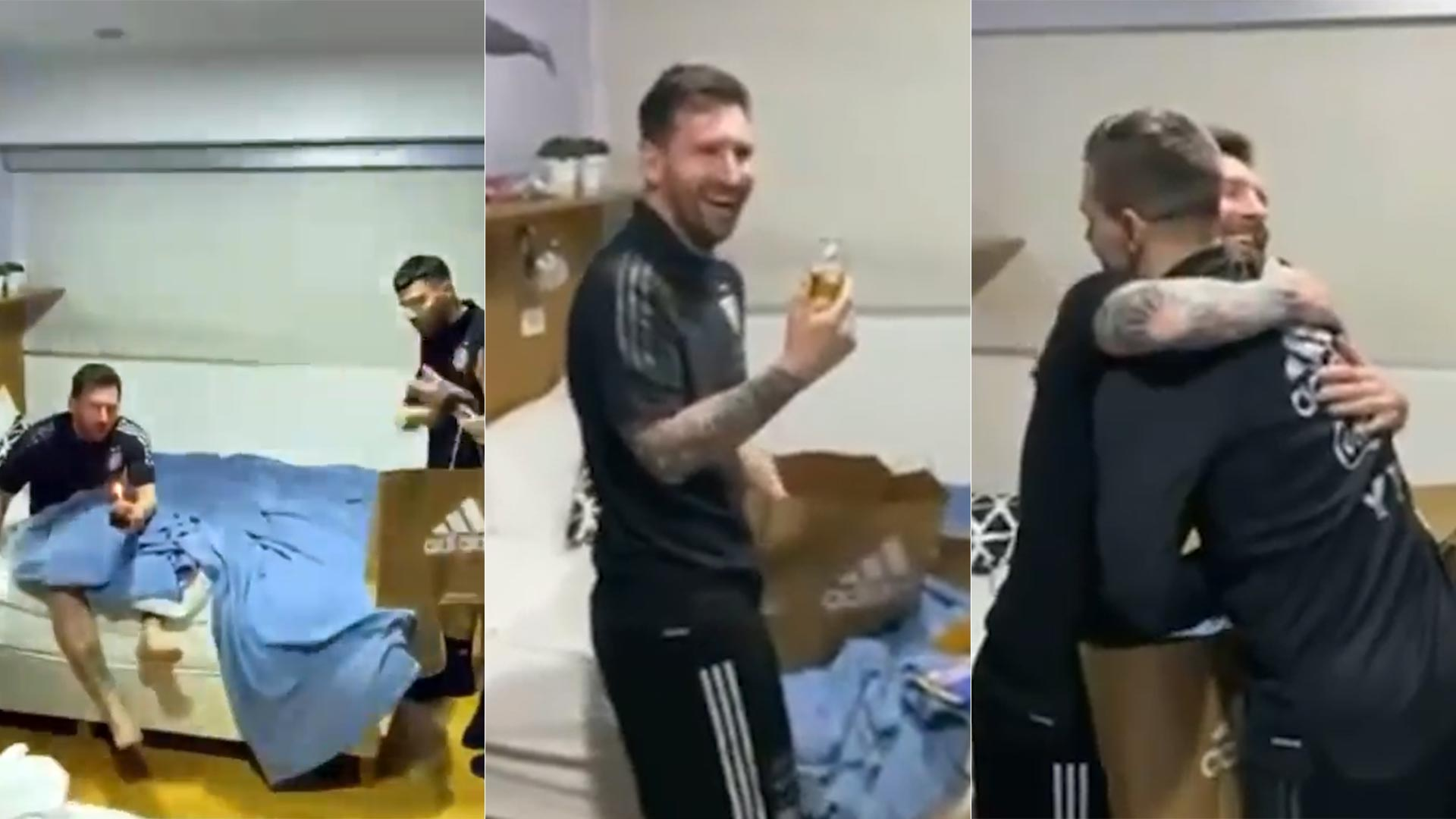 VIDEO: El festejo íntimo que la Selección Argentina por el cumpleaños de Messi