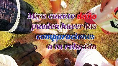 Compararte con otros o comparar a tu pareja con otras personas piede causarle mucho daño a tu relación; al punto de provocar la ruptura