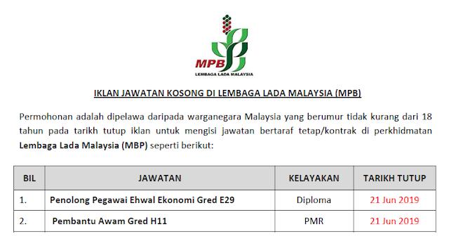 jawatan lembaga lada malaysia