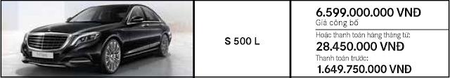 Giá xe Mercedes S500 L 4MATIC giảm giá đặc biệt