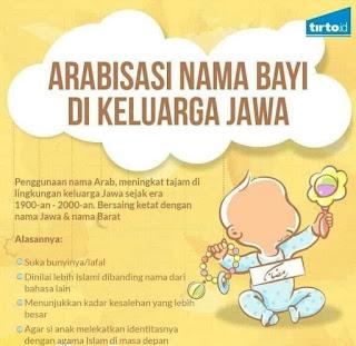 arabisasi nama bayi di keluarga jawa
