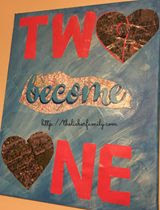 Love is in the Air, a Blog With Friends group post | How to make Two Became One, a mixed media art collage. by Rabia of The Lieber Family Blog | Presented on www.BakingInATornado.com | #DIY