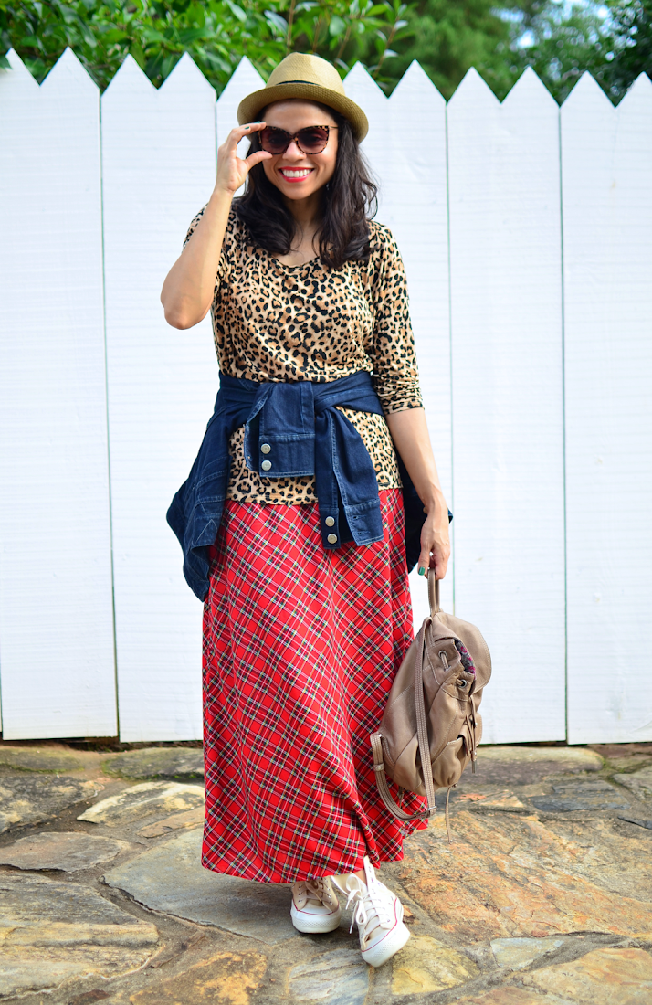 Mixed Patterns Outfit Look