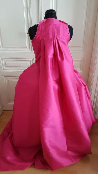 marie antoinette cosplay rococo 18th century pink dress lady oscar rose of versailles wip progress robe a la francaise