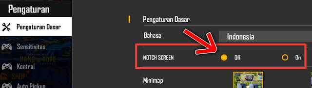 Cara Membuat Tampilan Free Fire (FF) Full Screen