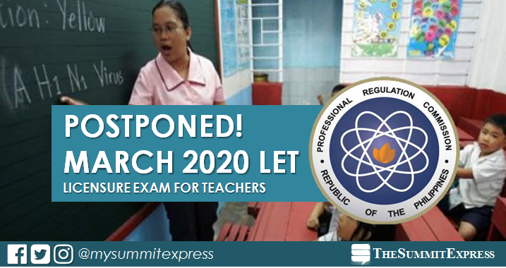 March 2020 LET postponed - PRC