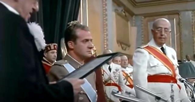 Juan Carlos y Francisco Franco