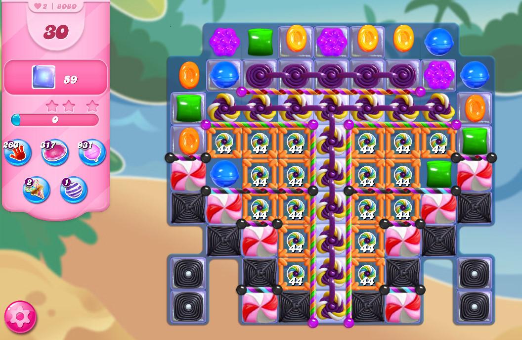 Candy Crush Saga level 8080