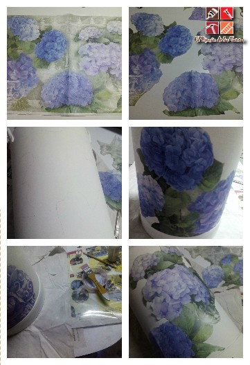 lechera con decoupage