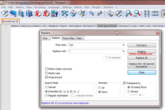cara-menggabungkan-kata-perbaris-di-notepad++