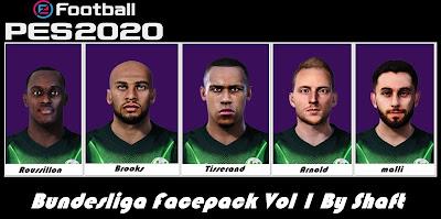 PES 2020 Bundesliga Facepack vol 1 by Shaft
