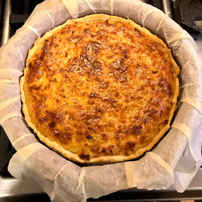 French Village Lockdown Diaries day thirty-one advent onion tart