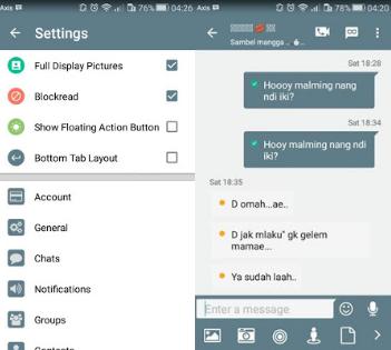 BBM Mod Kimochi Messenger V3.1.0.13 Apk
