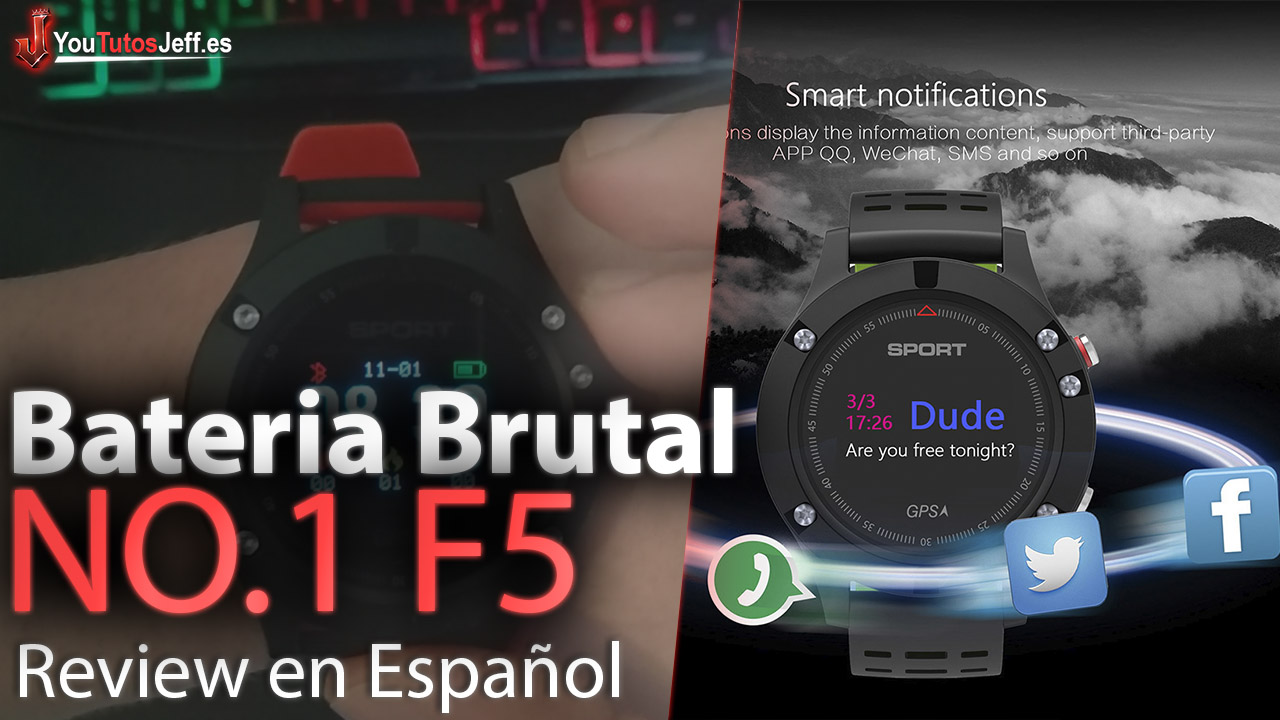 Hasta 1 Mes de Bateria - NO.1 F5 Smart Watch IP67 Review Español
