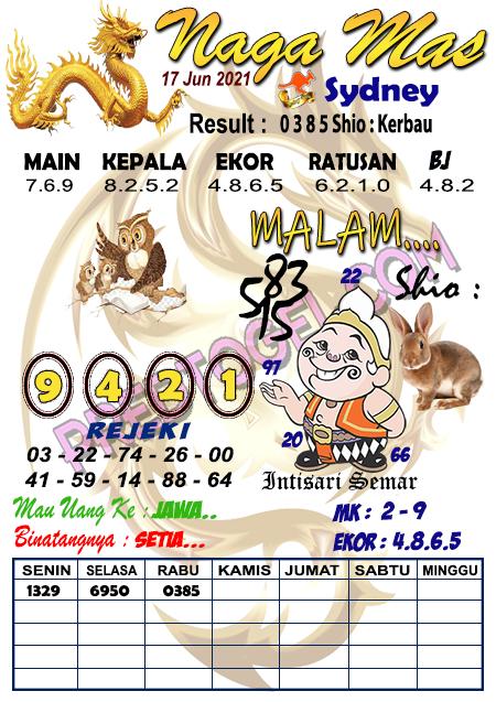 Syair Nagamas Sdy Kamis 17 Juni 2021