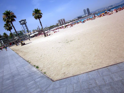 Beach of San Sebastia in Barcelona