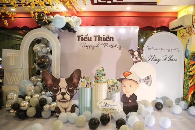 trang trí sinh nhật tại nhà cho bé thanh xuân