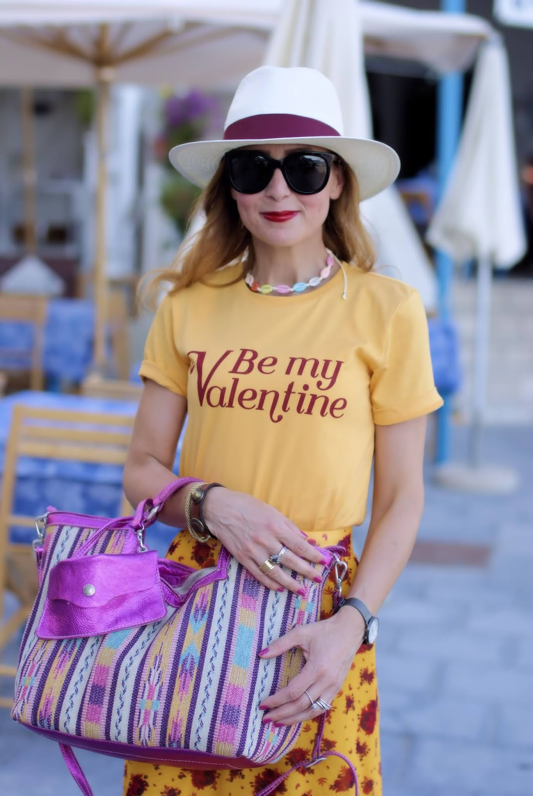 yellow look with mix of prints on Fashion and Cookies fashion blog