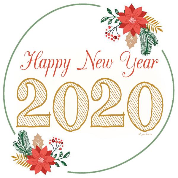 Happy New Year 2020, Anabelia Craft Design