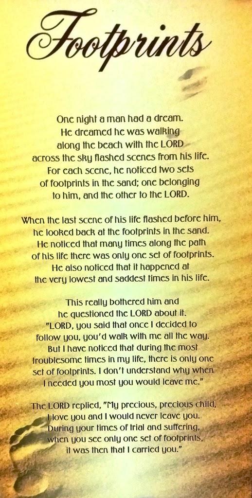 Poem: Footprints - Esther Neela Blog