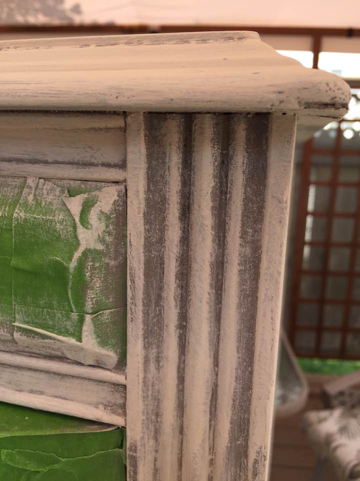 Layering Chalk Paint.