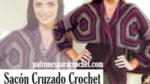 Sacón Crochet Tejido con Hexágonos | Paso a Paso