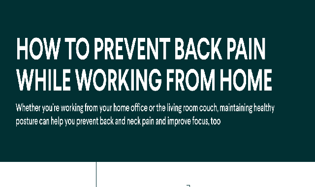 How To Prevent Back Pain While Working From Home #infographic