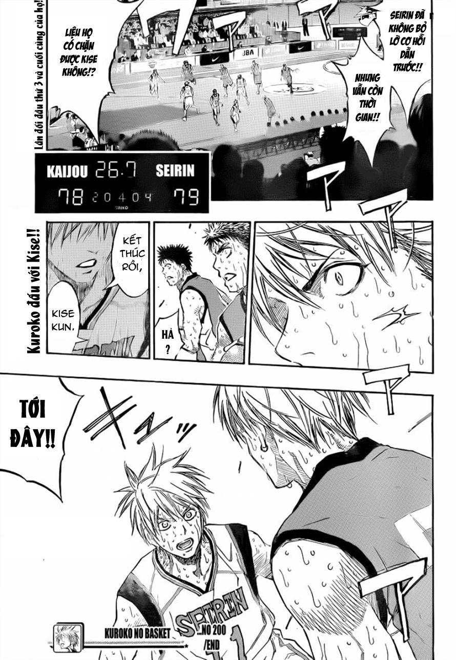 Kuroko No Basket chapter 200 trang 17