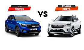 Detailed Comparison : KIA Seltos Vs Hyundai Creta