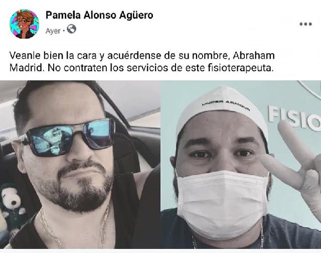 Marcela afirma que después del incidente, se enteró que en realidad, Abraham Madrid no es fisioterapeuta, pues no tiene cédula, ni licencia, ya que no terminó los estudios de carrera. Esto es algo grave, porque ha llegado a trabajar en el CRIT Teletón Yucatán.