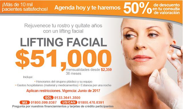 lifting estiramiento facial levantamiento cara precio cirugia guadalajara