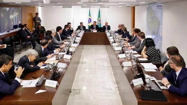 Reunião ministerial com Bolsonaro