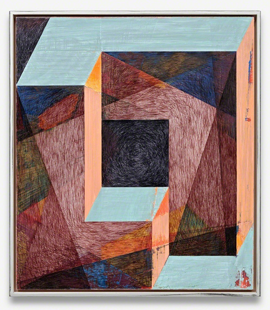 Bern Ribbeck untitled, 2016 Acrylics, Ballpointpen,Pigmented Marker On MdF 32 × 28 cm