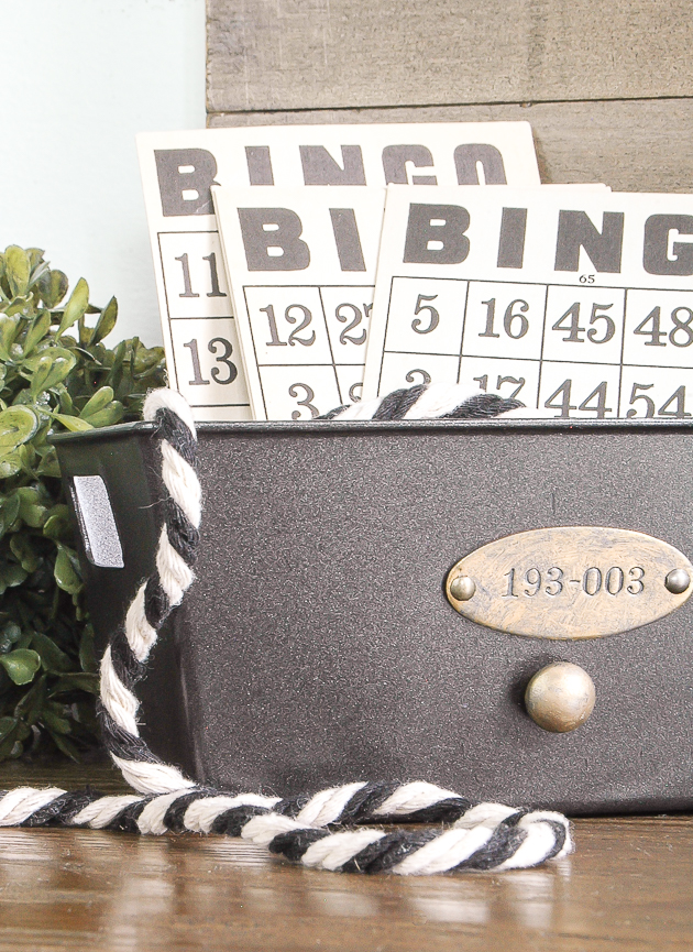 Get organized with these industrial inspired storage bins