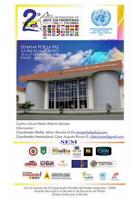 Segundo festival internacional de Arte Sin Fronteras por la Paz de Colombia