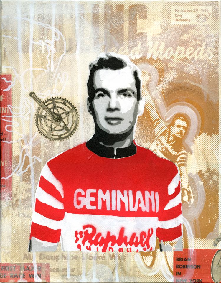 Tour de France cycling art created by artist James Straffon