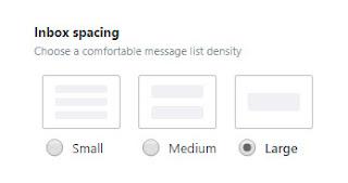 mengatur kerapatan daftar pesan