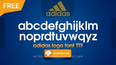 Font Logo Adidas TTF